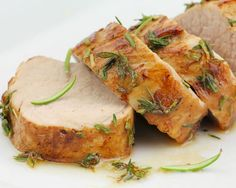 In the mood for a Thanksgiving meal, but can't wait until the big day? Try making turkey tenderloins for dinner. This roasted turkey tenderloin Turkey Tenderloin Recipes, Turkey Recipes, Pork Recipes, Cooking Recipes, Healthy Recipes, Chicken Recipes, Pork Meals, Chicken Ideas, Drink Recipes