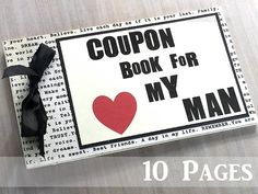 10 Page LOVE Coupon Book for Husband Boyfriend. Anniversary Birthday Deployment Personalized gift. Sentimental Marriage Wedding Engagement.