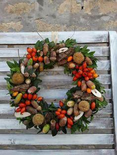 *Hungarian Provence*: Virágműhely - őszi dekorációk Christmas Wreaths, Floral Wreath, Holiday Decor, Fall, Painting, Home Decor, Ideas, Dekoration, Autumn