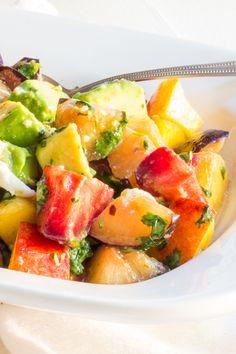 Plum Salad with Avocado and Mozzarella   The Wimpy Vegetarian