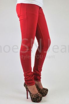f3596bcfaf2ae Details about Women Skinny Colorful Jeggings Stretchy Sexy Pants Soft  Leggings Pencil Zipper