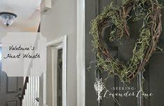 Seeking Lavender Lane: Simple Valentine's Day Wreath and Decor