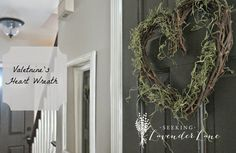 Seeking Lavender Lane: Simple Valentine's Day Wreath and Decor