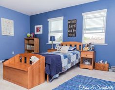 Boys Bedroom Ideas {Home Tour} - Clean and Scentsible