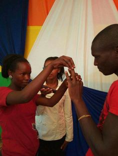 Kenyan couple weds in simple ceremony dressed in T-SHIRTS