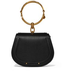 Chloé Nile Bracelet small textured-leather shoulder bag (2 333 680 LBP) ❤ liked on Polyvore featuring bags, handbags, shoulder bags, shoulder bag purse, cellphone purse, snap closure purse, shoulder bag handbag and chloe handbags