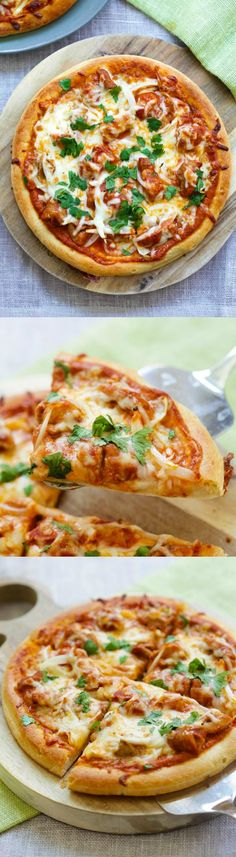 Chicken Tikka Masala Pizza – cheesy pizza topped with delicious Indian chicken tikka masala. The best homemade pizza recipe ever | rasamalaysia.com