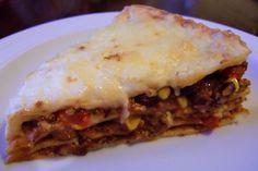 Mexikanische Lasagne #rezept #recipe #vegetarisch #vegetarian #veggie