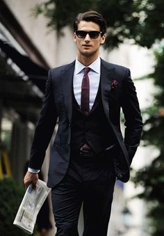 Urban professional excuses confidence in this perfectly fitted suit