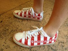 LOVE LOVE LOVE!!!!    Seen at the Sweet 16--Indiana Hoosier pride by Converse
