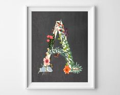 woodland printable alphabet letter art