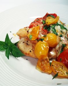 New Low FODMAP Recipes - Parmesan crusted chicken escalope with slow roasted tomatoes http://www.ibssano.com/low_fodmap_recipe_chicken_parmesan_tomatoes.html