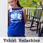 Tshirt Refashion... { Pillowcase Top }