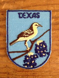 Texas Vintage Travel Patch by Voyager by HeydayRetroMart on Etsy, $7.00