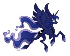 Princess Luna by Utahraptorz-Poniez.deviantart.com on @deviantART