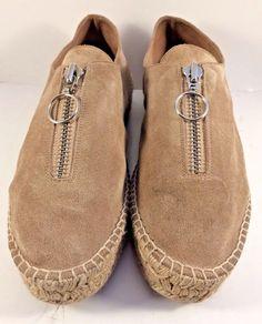 Alexander Wang Devon Suede Leather Espadrilles Platform Shoes Womens Size EUR 40 #AlexanderWang #Espadrilles #Casual