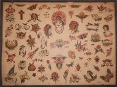 1941 Milton Zeis Tattoo Flash on Etsy, $34.99