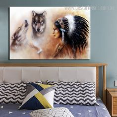 Tribal girl that lives with wild animals and forest lover. Get this adventurous premium canvas print at flat 40% discount.  #artforsale #digitalart #artcurator #stretchedart . Wall Art Decor, Wall Art Prints, Online Art Store, Feather Hat, Stretched Canvas Prints, Wild Animals, Contemporary Paintings, Digital Art, Flat