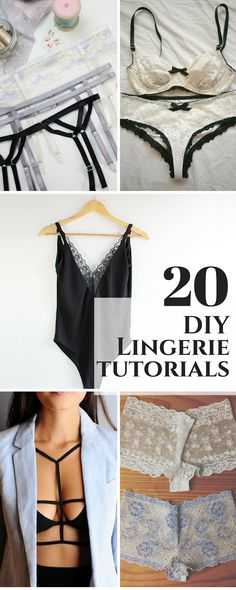 15 DIY Lingerie, Bras, and Panties to Try in 2019 – - diy clothes Recycling Ideen Lingerie Couture, Sewing Lingerie, Jolie Lingerie, Diy Couture, Bra Lingerie, Fashion Lingerie, Diy Clothes Refashion, Diy Clothing, Sewing Clothes