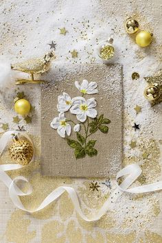 Marie Claire, Diy Broderie, Embroidery, Aesthetics, Contemporary Embroidery, Ribbon Embroidery, Flowers, Silk, Needlepoint