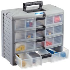 The Container Store Clear Storage Trunk with Handle How awesome