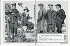 5 hart shaffner marx style book for men, 1917, military uniforms world war one Liza Cowan Ephemera Collections