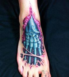 tattoo biomechanik fuß