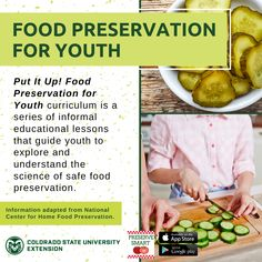 Learn more about food preservation for youth and find the Put It Up! curriculum by visiting the link. Knowledge Test, Colorado State University, Youth Programs, How To Make Jam, Home Canning, Pressure Canning, Home Food, Food Safety, Reading Material