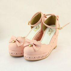 Japanese sweet lolita bow princess heels