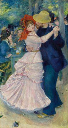 Pierre-Auguste Renoir, Danza a Bougival, 1883   olio su tela, cm 181,9 x 98,1 Boston, Museum of Fine Arts Picture Fund #RaffaelloversoPicasso #Vicenza