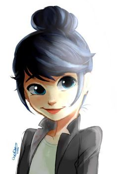 Cute Marinette and her bun~ (Miraculous Ladybug)