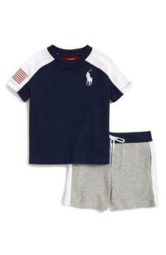 Ralph Lauren T-Shirt & Shorts (Baby Boys) available at #Nordstrom