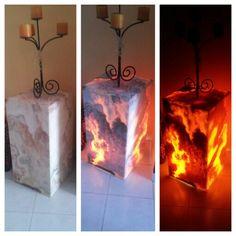 Lámparas mármol  traslúcido
