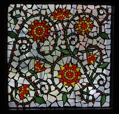Glass on glass mosaic window by Meaco's Art Garden, via Flickr