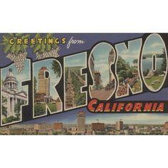 Fresno, California - Vintage Halftone (Keepsake Tin), Silver aluminum (Acrylic)