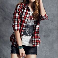 camisa-feminina-xadrez-casual-manga-longa
