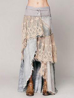 Grey Combo: бохо юбки
