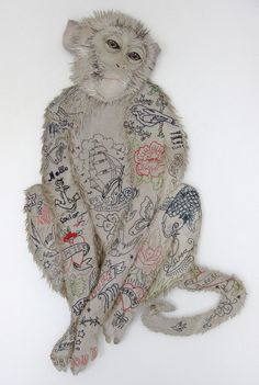 Textile artist, Karen Nicol - Pearl /// Karen Nicol interview: The versatility of textiles Textile Fiber Art, Textile Artists, Jasper Johns, Textiles, Embroidery Art, Machine Embroidery, Impression Textile, Soft Sculpture, Andy Warhol