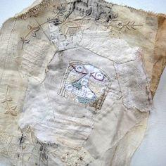 In the spirit of Magic (Spirit Cloth) Fiber Art Quilts, Textile Fiber Art, Textile Artists, Fibre Art, Fabric Journals, Art Journals, Textile Tapestry, Sewing Art, Sewing Ideas