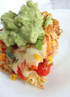 Pastel azteca vegetariano! para los lunes sin carne!