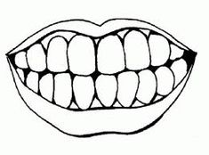 Free Printable Tooth Template from PrintableTreats.com