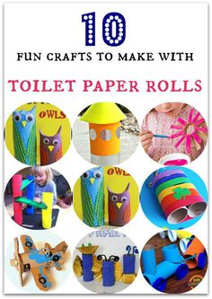 10 fun crafts to make with toilet paper rolls - In The Playroom