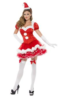 74bd22028b7 The Women s Miss Santa Costume is a lovely outfit that will make it  Christmas all year
