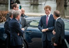 Prince Harry's arrival at the Museum