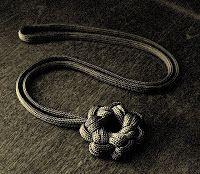 Stormdrane's Blog: Single strand paracord star knot...