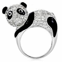 Papaya's Panda Cocktail Ring
