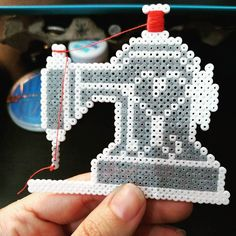 Sewing machine hama beads by kat_hama