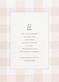 Buffalo Check Bunny - Pink - online at Paperless Post