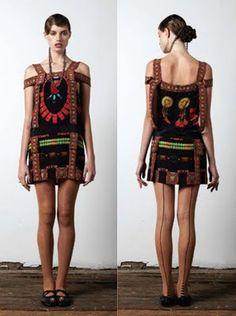 Romance WAS Born Ribbon Deco Dancer Silk Printed Tunic Dress S8 | eBay