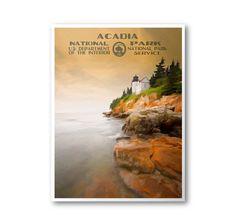 Acadia National Park Travel Poster & Postcard